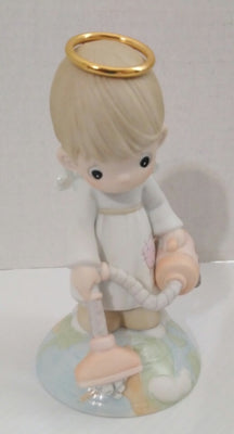 With A Little Help From Above Precious Moments Figurine-We Got Character