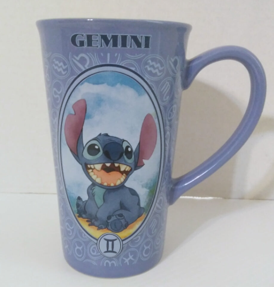 "Lilo Stitch Gemini Astrology Zodiac 6"" Disney Ceramic Blue Mug Cup-We Got Character"