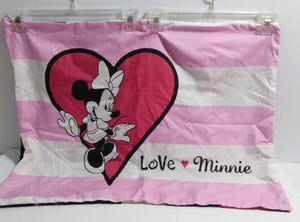 Lot of 2 Minnie Mouse Love Pillow Shams-We Got Character