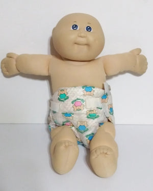 Bald Blue Eyed Cabbage Patch Kid Caleco - We Got Character