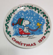 Snoopy Peanuts Christmas Collector Plate 1972- We Got Character