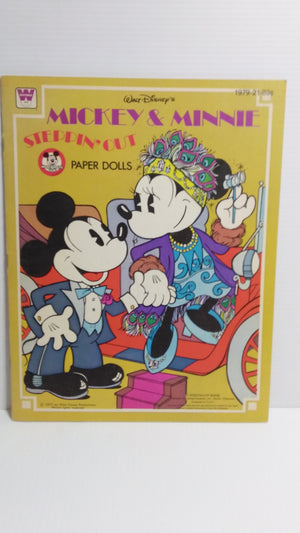 Mickey & Minnie Steppin' Out Paper Doll Book- We Got Character