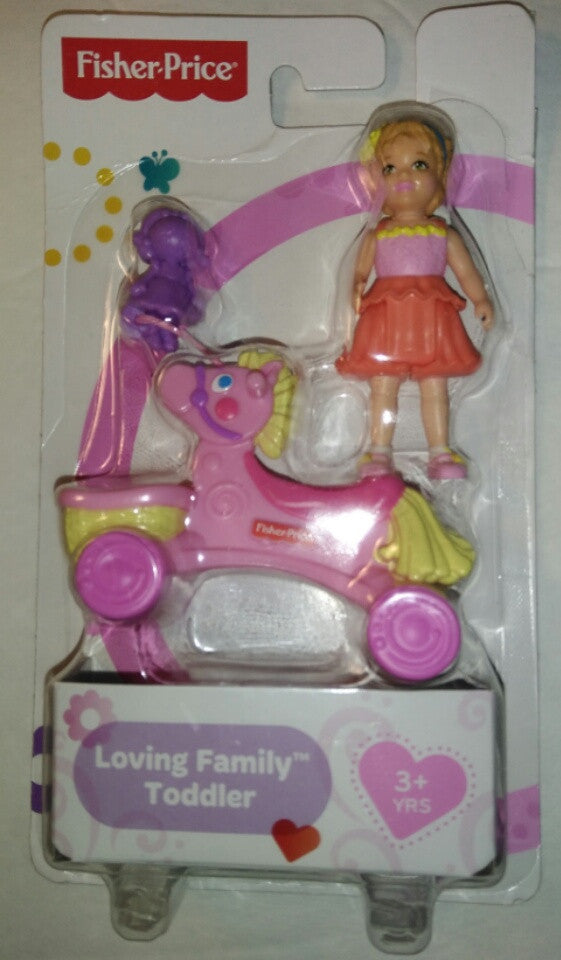 Fisher-Price Loving Family Dollhouse Figure Toddler Doll W/ Ride-on Giraffe-We Got Character