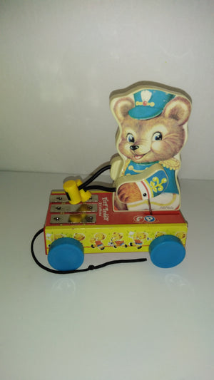 Fisher Price Tiny Teddy Xylophone Pull Toy - We Got Character