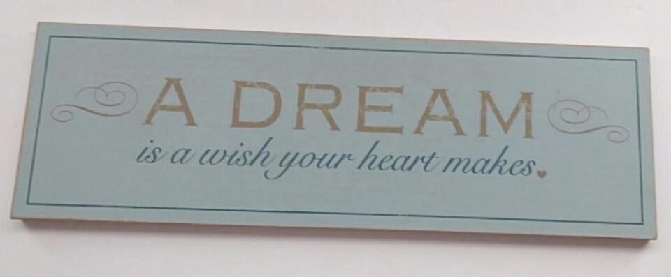 A Dream Is A Wish Your Heart Makes Wooden Plaque