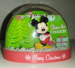 Mickey Mouse Christmas Snow Globe - We Got Character