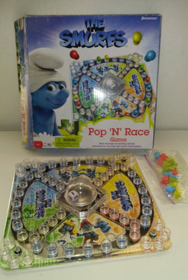 The Smurfs Pop 'N' Race Game by Pressman - We Got Character