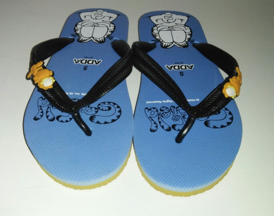 Blue Garfield Flip Flops Adda-We Got Character