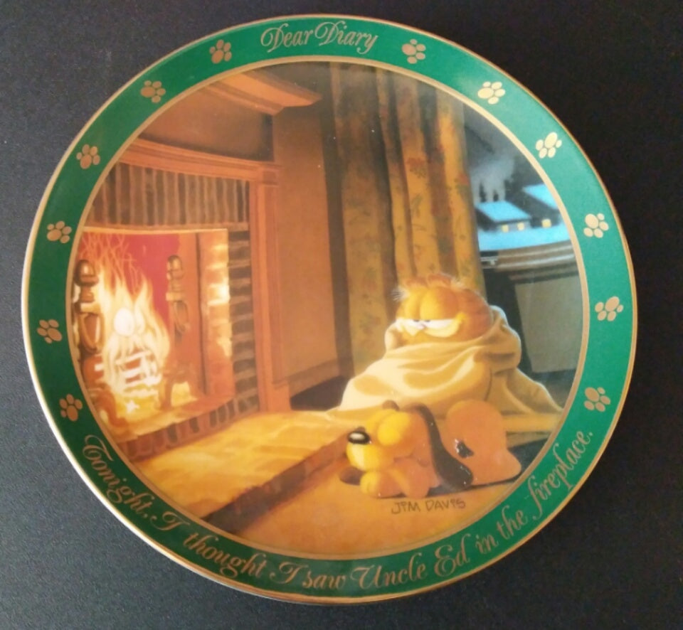 Garfield  Dear Diary  Plate Uncle Ed
