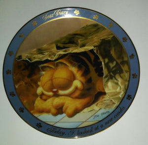 Garfield Dear Diary Plate New Condo-We Got Character