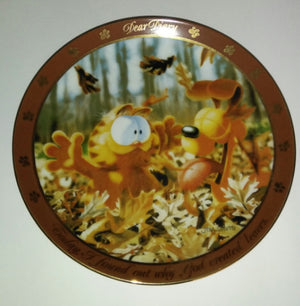 Garfield Dear Diary Plate God Created Leaves-We Got Character