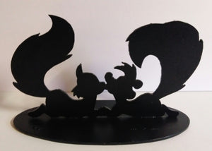 Pepe Le Pew &  Penelope Cast Iron Figurine Statue  - We Got Character