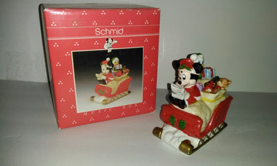 Santa Mickey Mouse Sleigh Disney Schmid Music Box - We Got Character