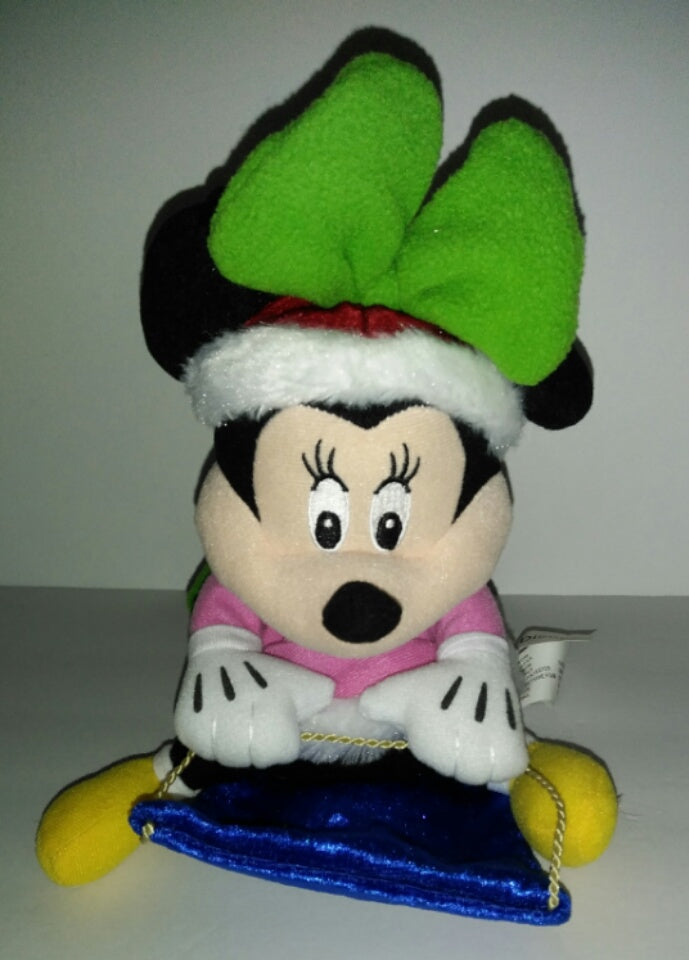 Disney Minnie Mouse Sledding Musical Singing  Holiday Plush - We Got Character
