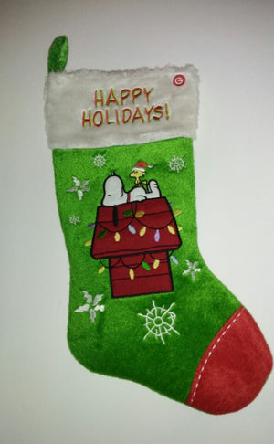 Snoopy Christmas Stocking Happy Holidays-We Got Character