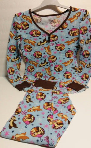 Disney Thermal Waffle Long Underwear Pajama Set-We Got Character