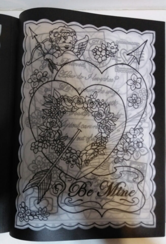 True Love: Stained Glass Coloring Book