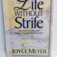 4 Joyce Meyer Books Power Thoughts, Be Anxious For Nothing, Life without Strife...