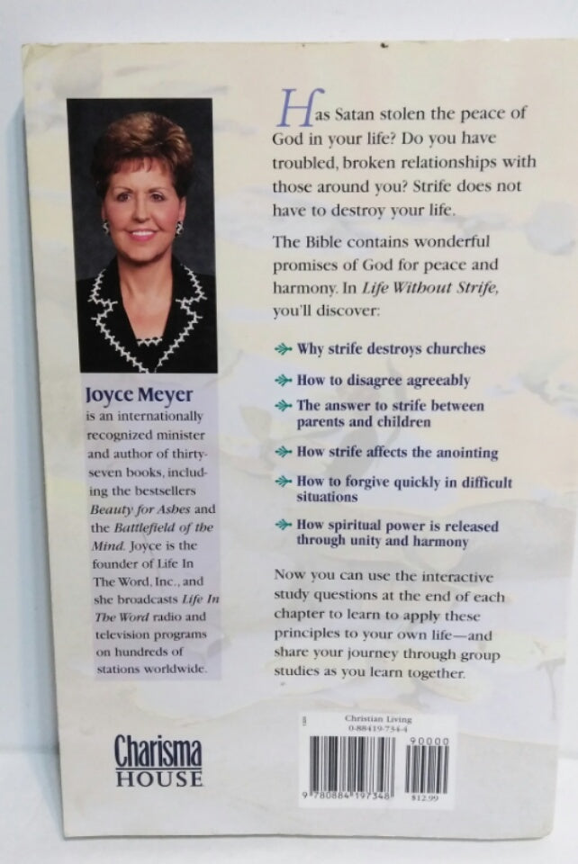 4 Joyce Meyer Books Power Thoughts, Be Anxious For Nothing