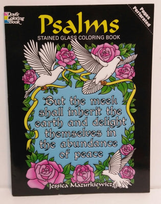 Psalms Stained Glass Coloring Book - We Got Character