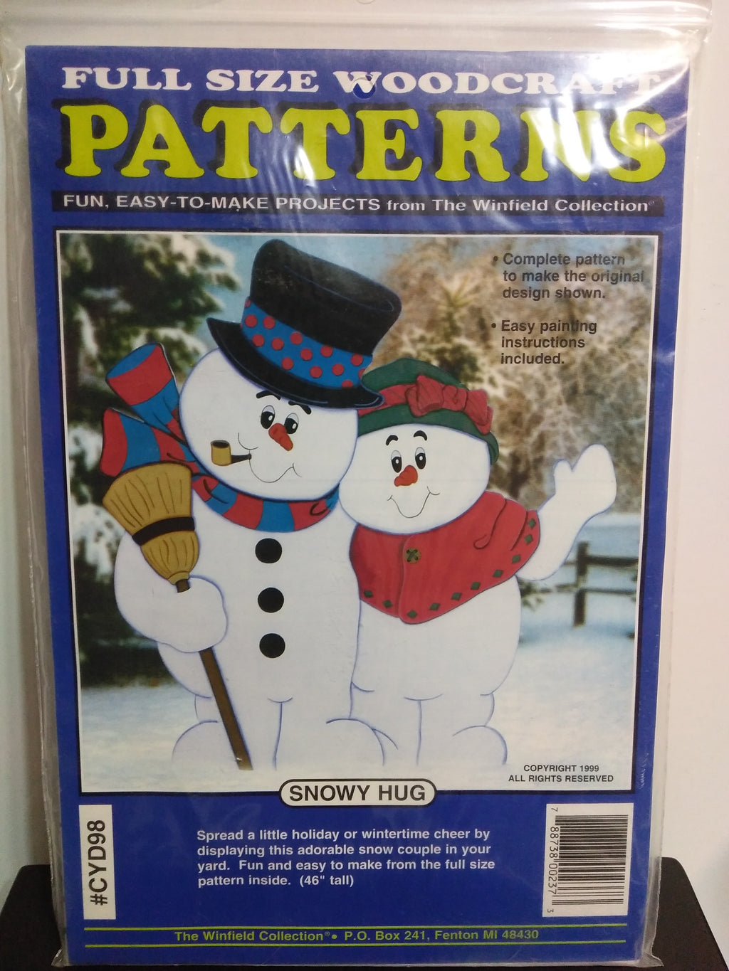 Snowman Wooden Patterns Snowy Hug-We Got Character