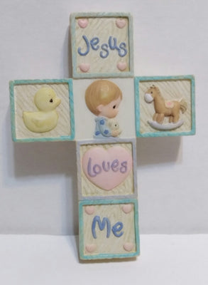 Precious Moments Wall Cross Jesus Loves Me - We Got Character