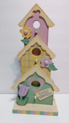 Easter Wooden Spring Bird House Decoration - We Got Character