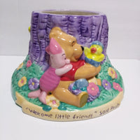 FTD Ceramic Winnie the Pooh & Friends Welcome Little Friend Flower Planter-We Got Character