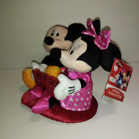 Disney Mickey & Minnie Mouse Kissing and Sound Love Pals Love Animated Plush