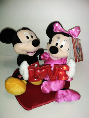 Disney Mickey & Minnie Mouse Kissing and Sound Love Pals Animated Plush-We Got Character