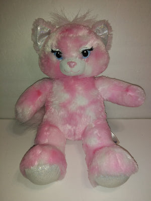 Build A Bear Pink & White Cat - We Got Character
