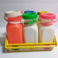 Fisher Price #637 Milk Jugs Bottles with Tops & Carrier-We Got Character