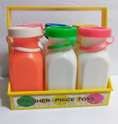 Fisher Price #637 Milk Jugs Bottles with Tops & Carrier - We Got Character
