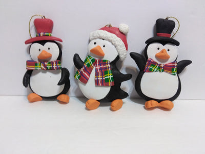 3 Penguin Ornaments - We Got Character