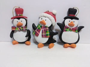 3 Penguin Ornaments-We Got Character