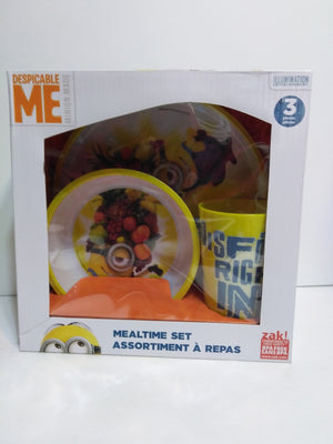 Despicable Me 3pc Yellow Mealtime Set - We Got Character