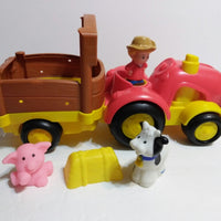 Fisher Price Little People Tow & Pull Tractor N Trailer Sings & Talks - We Got Character