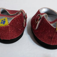 Build A Bear Red Sparkle Shoes