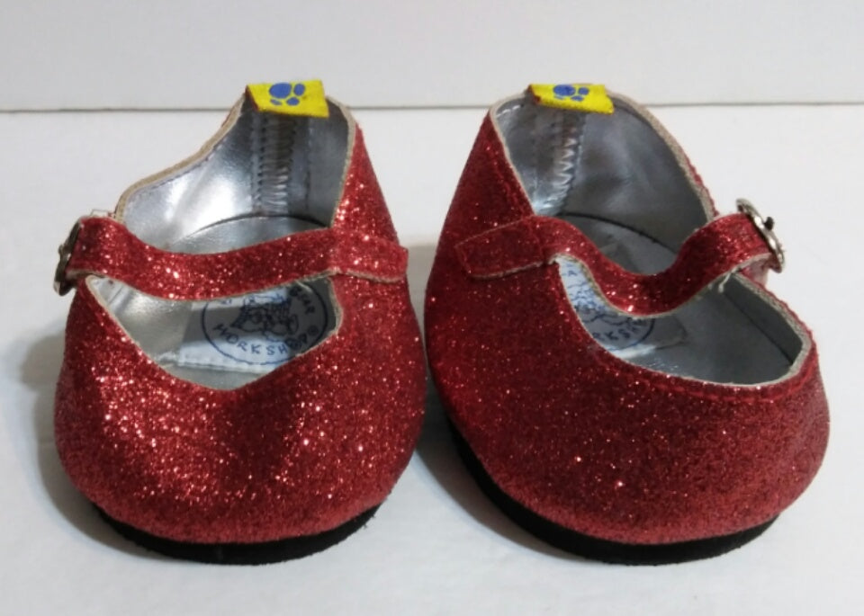 Build A Bear Red Sparkle Shoes-We Got Character