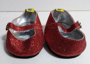 Build A Bear Red Sparkle Shoes - We Got Character