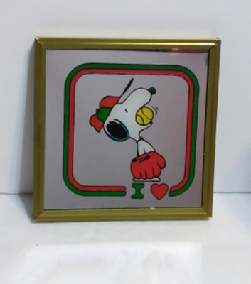 Snoopy Baseball Mirror Picture - We Got Character