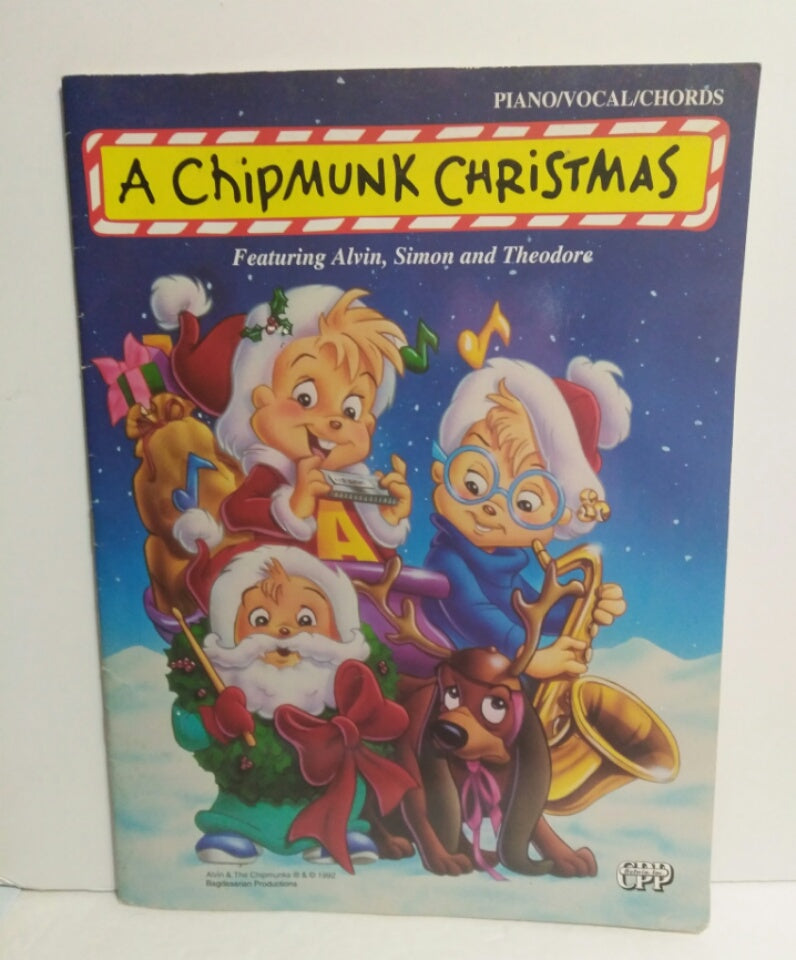 Alvin And The Chipmunks Christmas.A Chipmunk Christmas Piano Vocal Chords Book