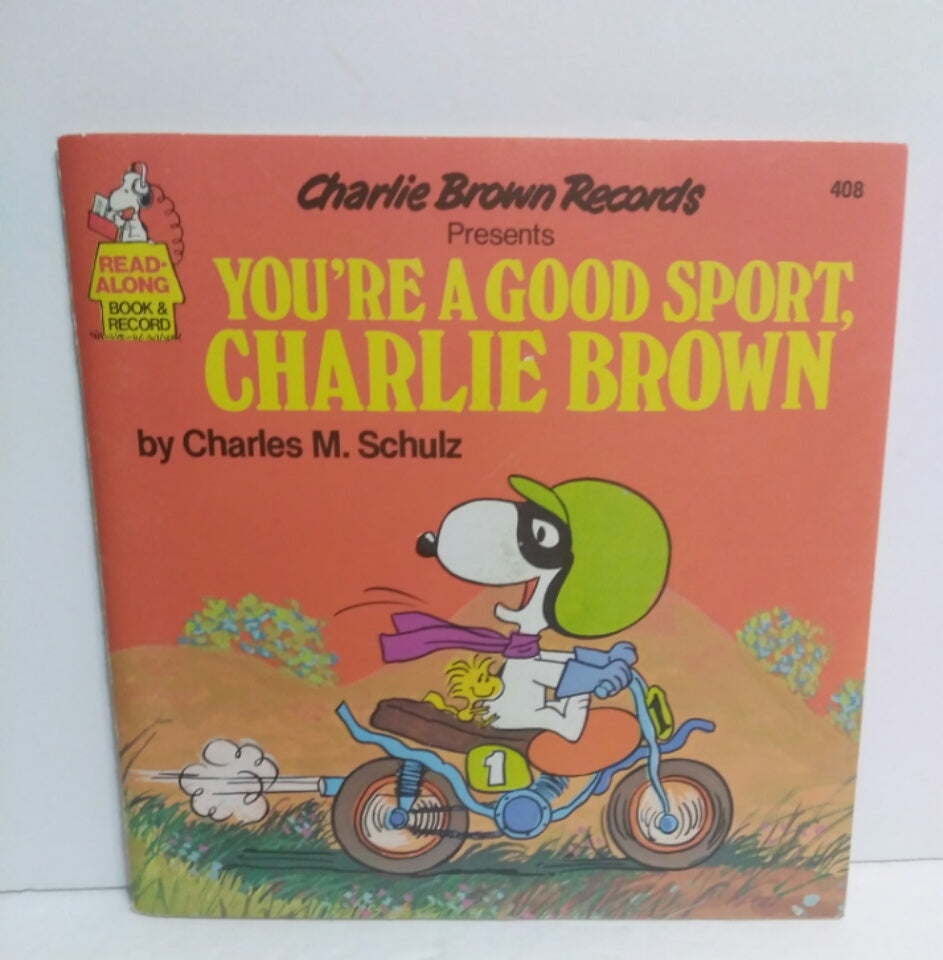 You're A Good Sport Charlie Brown Book and Record-We Got Character
