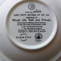 Many Happy Returns of The Day Winnie The Pooh Plate