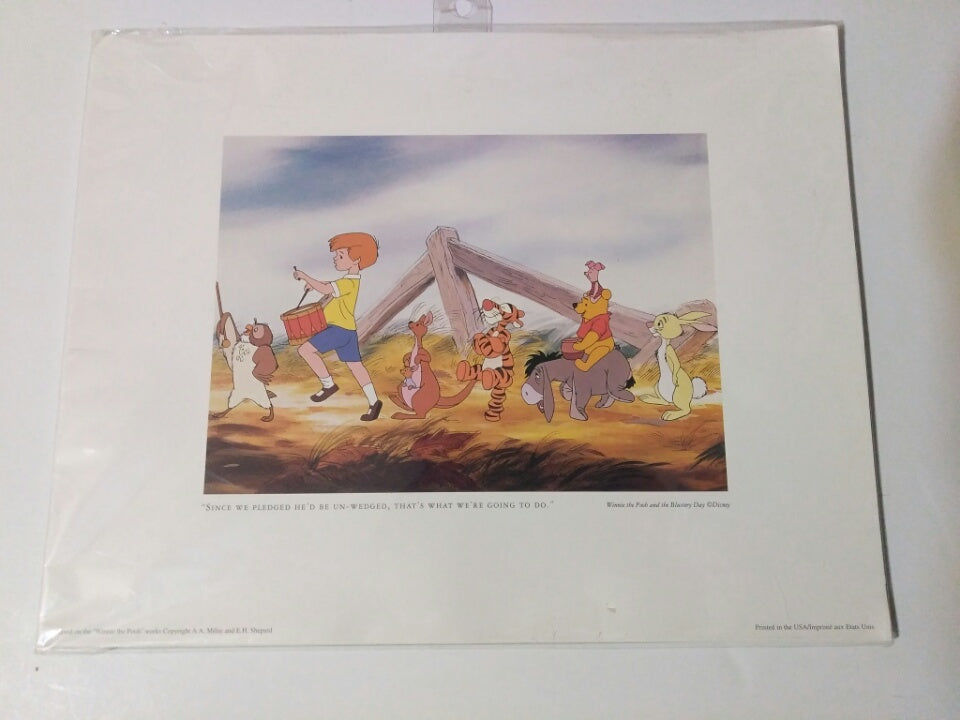 Winnie The Pooh Print Since We Pledged-We Got Character