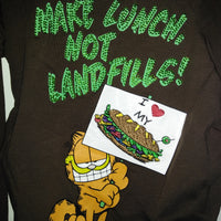 Garfield Shirt Make Lunch Not Landfills