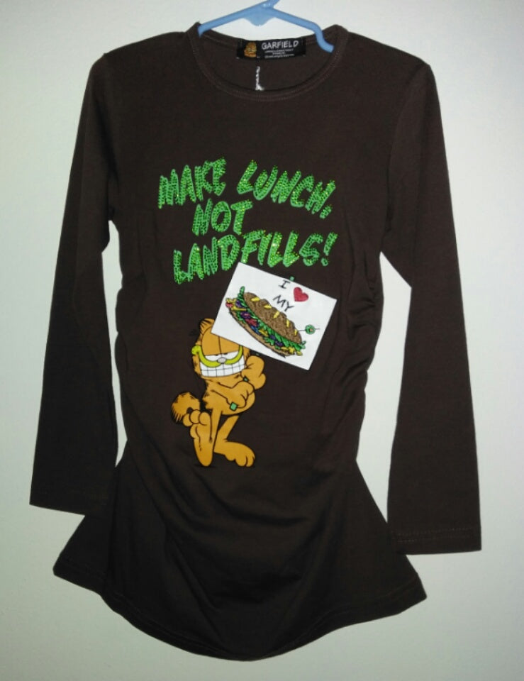 Garfield Shirt Make Lunch Not Landfills - We Got Character