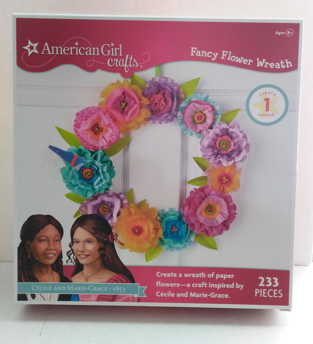 American Girl Fancy Flowers Wreath Craft Kit-We Got Character