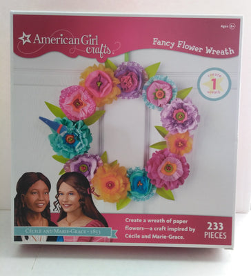 American Girl Fancy Flowers Wreath Craft Kit - We Got Character