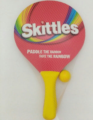 Skittles Paddle The Rainbow Taste The Rainbow Tennis Ping Pong Game-We Got Character